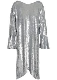 Iro Woman Napa Sequined Cotton-jersey Dress Silver