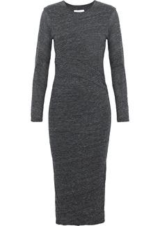 Iro Woman Napinka Mélange Cotton And Modal-blend Jersey Dress Dark Gray