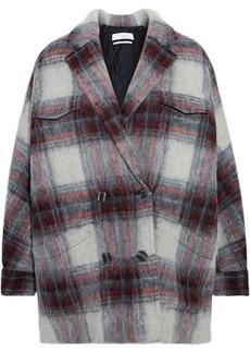 Iro Woman Nashville Checked Brushed-felt Jacket Gray