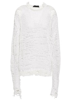 Iro Woman Neringa Distressed Open-knit Sweater White
