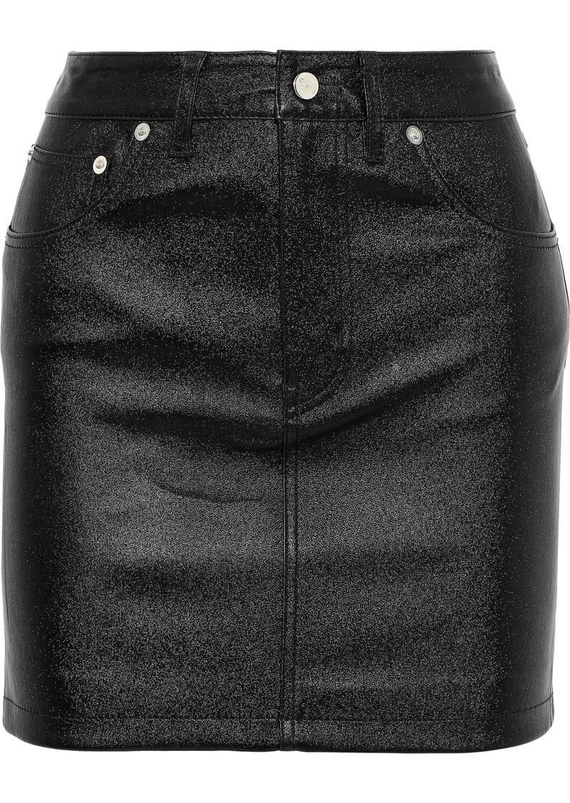 Iro Woman Newa Leather Mini Skirt Black