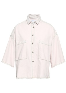 Iro Woman Nikow Frayed Denim Shirt Pastel Pink