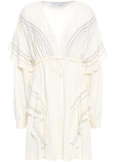 Iro Woman Nine Ruffled Crepe De Chine Mini Dress Ivory