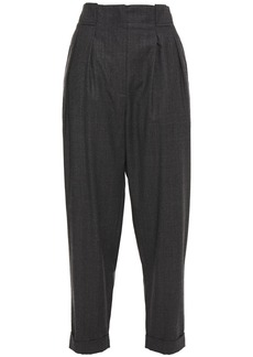 Iro Woman Nux Prince Of Wales Checked Wool Tapered Pants Dark Gray