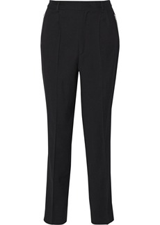 Iro Woman Olek Pleated Wool-blend Cady Tapered Pants Black