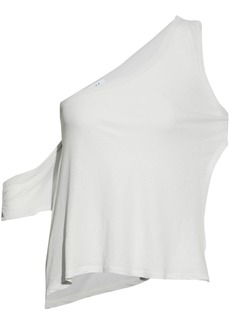 Iro Woman One-shoulder Cotton And Silk-blend Jersey Top Off-white