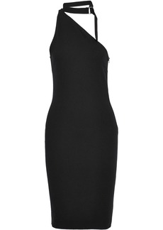 Iro Woman One-shoulder Stretch-crepe Dress Black