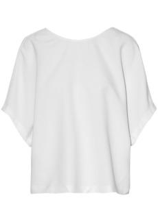 Iro Woman Open-back Lace-up Crepe Blouse White