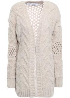 Iro Woman Open-knit Wool-blend Cardigan Ecru