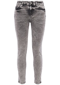 Iro Woman Optimism Acid-wash Mid-rise Skinny Jeans Anthracite