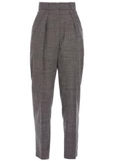 Iro Woman Orlea Pleated Wool-blend Tapered Pants Dark Gray