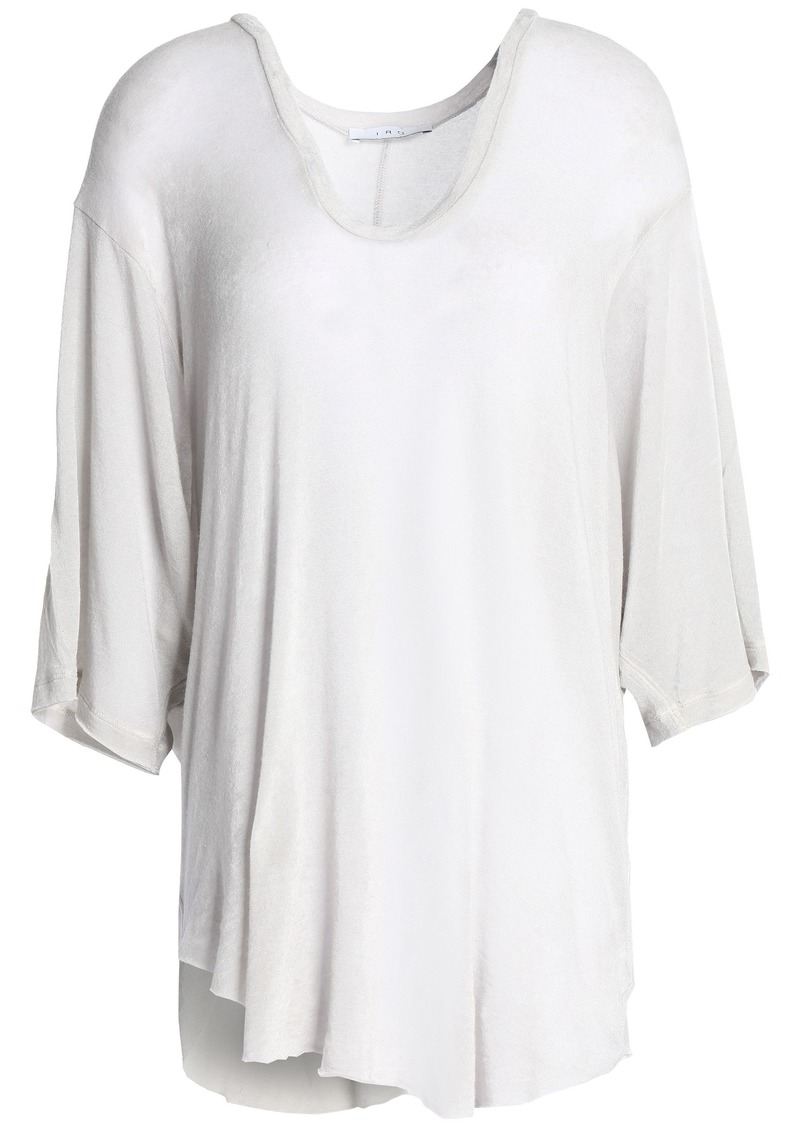 Iro Woman Oversized Slub Jersey Top Light Gray