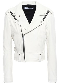 Iro Woman Ozark Leather Biker Jacket Ivory