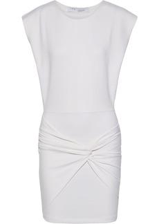 Iro Woman Pearls Twist-front Jersey Mini Dress White