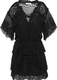 Iro Woman Penny Cotton-blend Lace Mini Dress Black