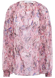 Iro Woman Pomea Printed Silk-georgette Blouse Baby Pink