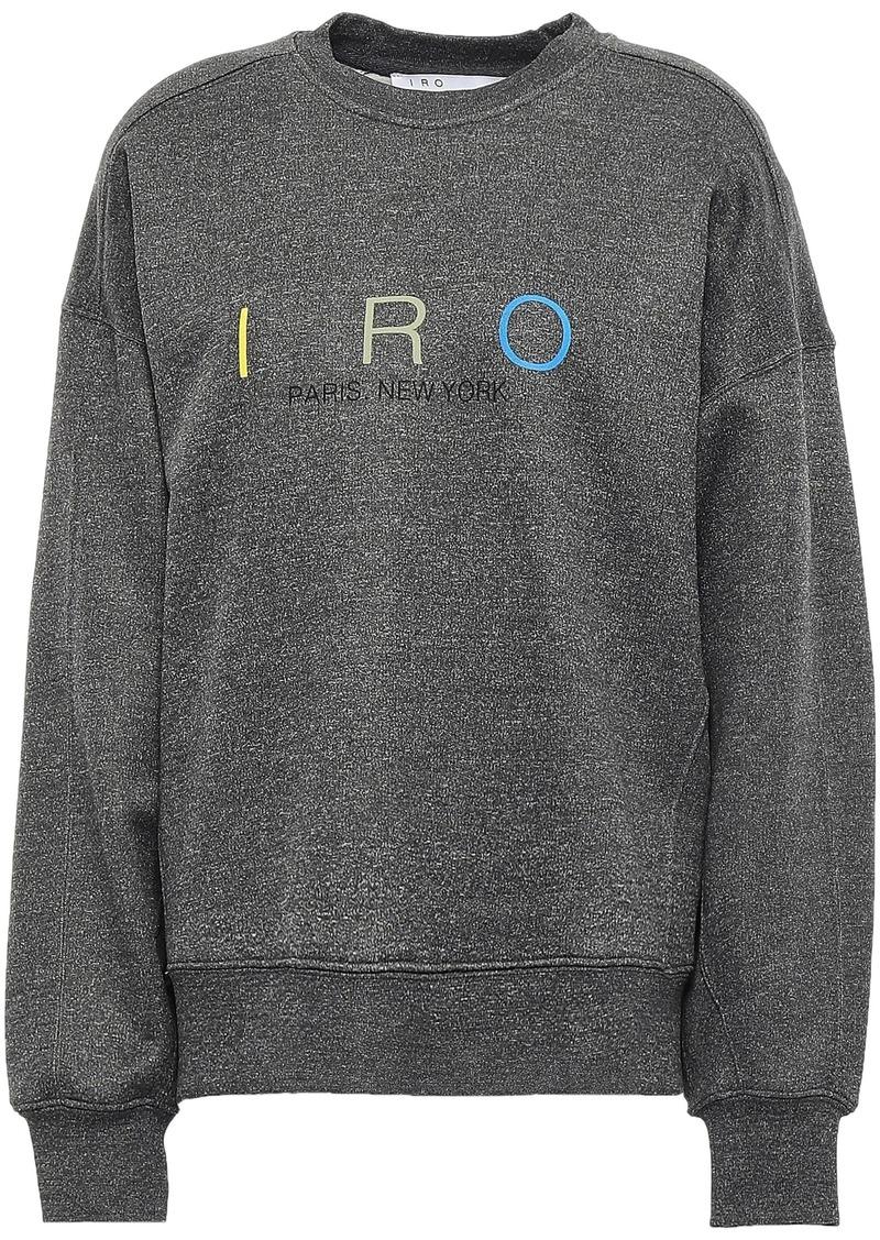 Iro Woman Million Printed Fleece Sweatshirt Dark Gray