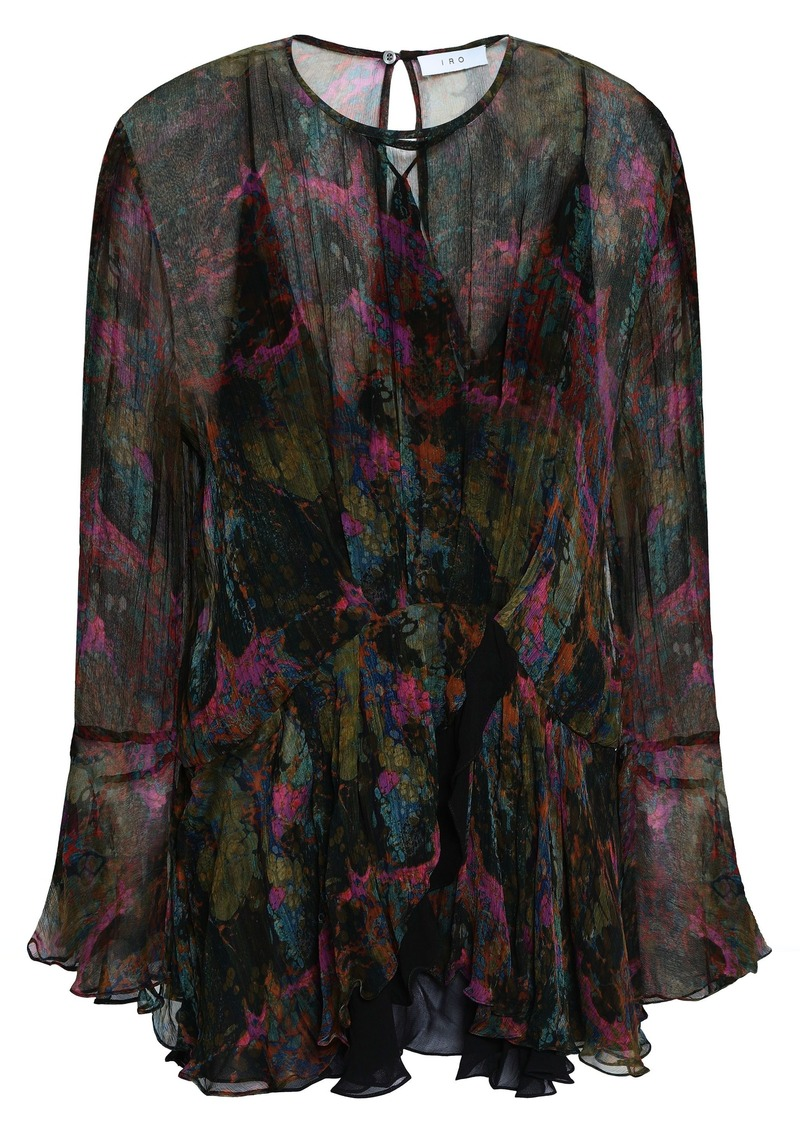 Iro Woman Printed Georgette Blouse Fuchsia