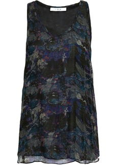 Iro Woman Printed Georgette Top Navy