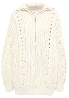 Iro Woman Pure Cable-knit Alpaca-blend Sweater Ecru