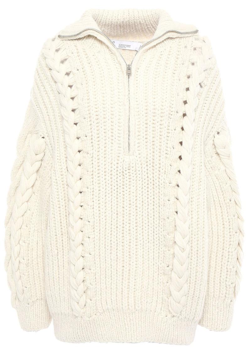 Iro Woman Pure Cable-knit Alpaca-blend Sweater Ecru