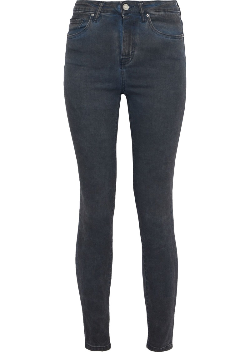 Iro Woman Ray High-rise Skinny Jeans Dark Denim