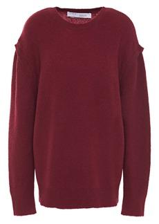 Iro Woman Roby Merino Wool-blend Sweater Burgundy