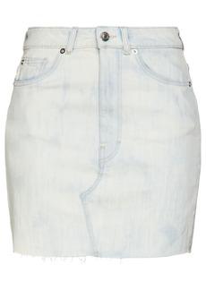 Iro Woman Rosier Distressed Denim Mini Skirt Light Denim