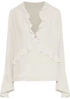 Iro Woman Ruffle-trimmed Crepe Top Ecru