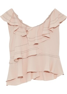 Iro Woman Ruffled Crepe De Chine Blouse Antique Rose