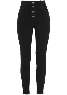 Iro Woman Sahia Suede Skinny Pants Black
