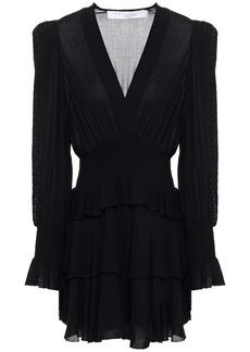Iro Woman Nioli Sequin-embellished Shirred Crepe Mini Dress Black