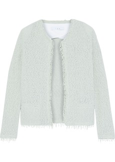 Iro Woman Shavani Frayed Cotton-blend Bouclé Jacket Mint