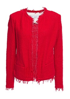 Iro Woman Shavani Fringed Cotton-blend Bouclé-tweed Jacket Red