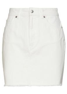 Iro Woman Sienne Denim Mini Skirt Off-white
