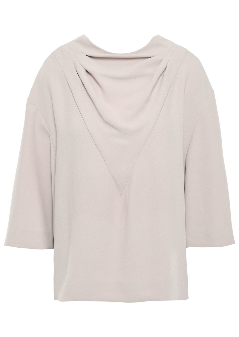Iro Woman Draped Crepe Blouse Pastel Pink