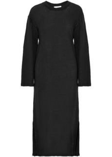 Iro Woman Slub Linen-jersey Midi Dress Black