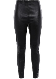 Iro Woman Stretch-leather Skinny Pants Black