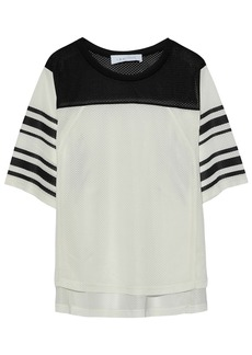 Iro Woman Striped Mesh Top Ecru