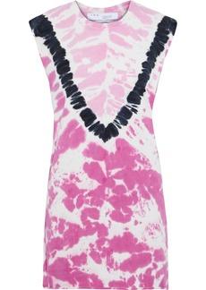 Iro Woman Sundow Tie-dyed Cotton-jersey Mini Dress Pink