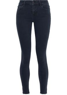 Iro Woman Surfer Frayed Mid-rise Skinny Jeans Black