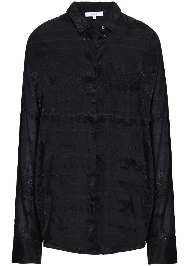 Iro Woman Sury Jacquard Shirt Black