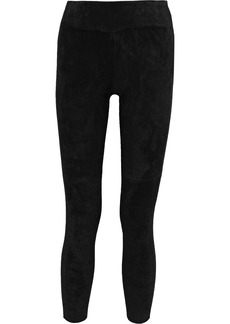 Iro Woman Tadonis Cropped Stretch-suede Leggings Black