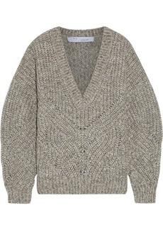 Iro Woman Taloga Mélange Ribbed-knit Sweater Gray