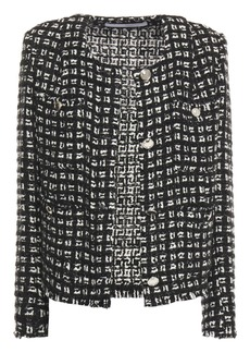 Iro Woman Tetys Metallic Bouclé-tweed Jacket Black