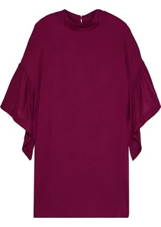Iro Woman Thiefya Ruffled Gauze Mini Dress Burgundy
