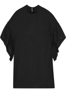 Iro Woman Thiefya Ruffled Gauze Mini Dress Black