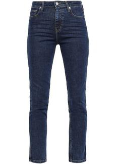 Iro Woman Thilus High-rise Slim-leg Jeans Mid Denim