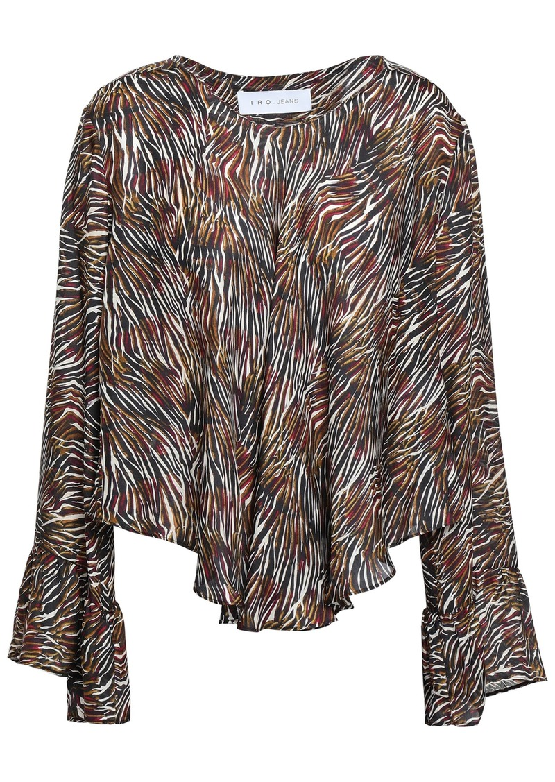 Iro Woman Tildana Zebra-print Silk Blouse Multicolor