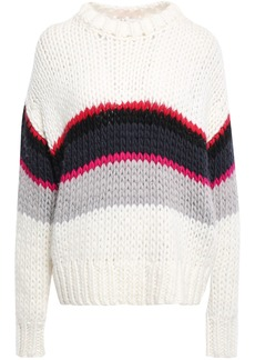 Iro Woman Verila Striped Wool-blend Sweater Ivory